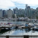 Skyline von Vancouver, vom Stanley Park aus gesehen